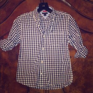 Boys Tommy Hilfiger button up plaid top